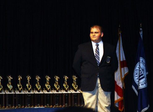Michael Stone at the Florida DECA convention where he was named State VP. Photo Courtesy Of DECA