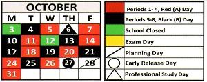 October 2016 Schedule